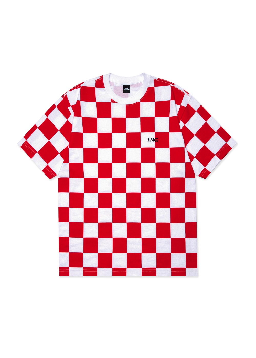 LMC CHECKERBOARD TEE red