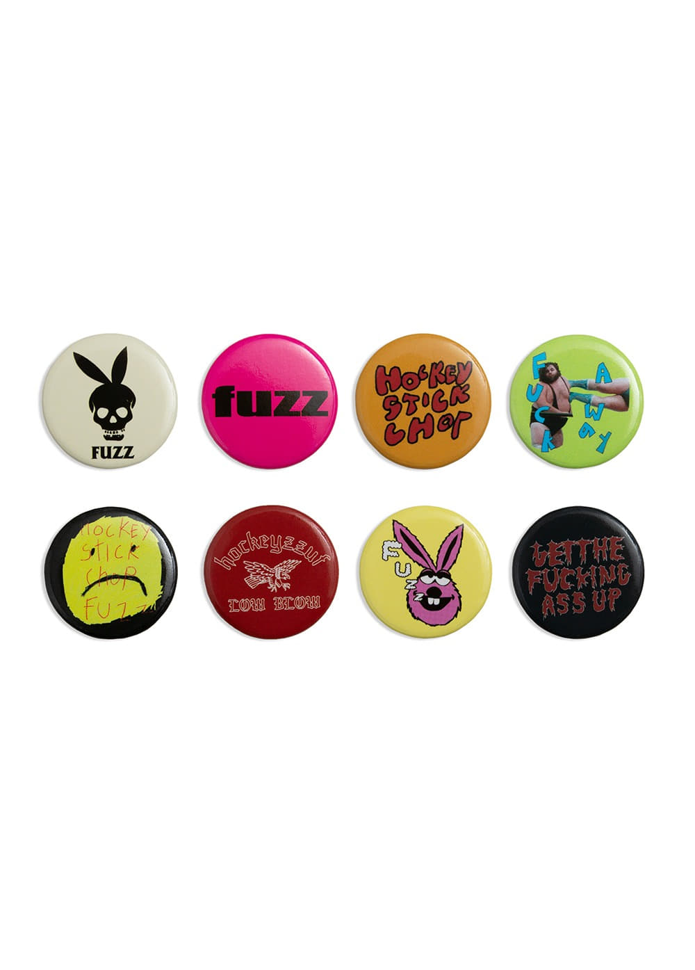 FUZZ X HOCKEY STICK CHOP PIN BUTTON PACK