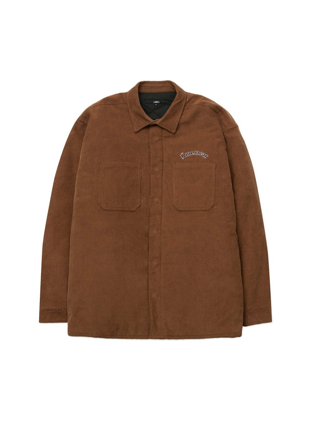 LMC CORDUROY PADDED SHIRTS JACKET brown