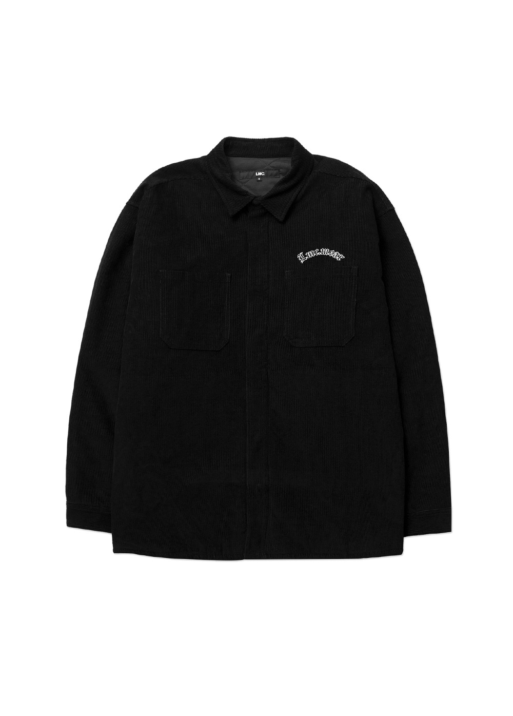 LMC CORDUROY PADDED SHIRTS JACKET black
