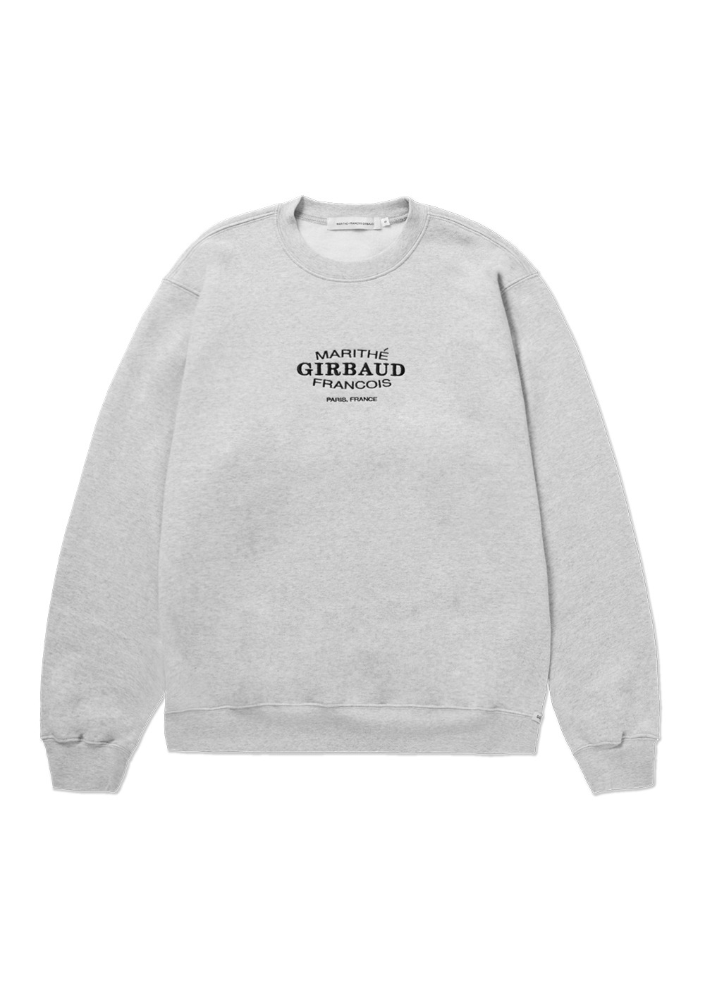 MARITHE OVAL LOGO SWEATSHIRT heather gray