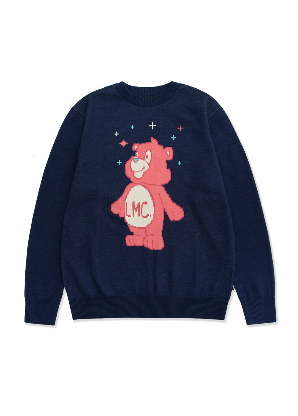 LMC BEAR KNIT SWEATER navy