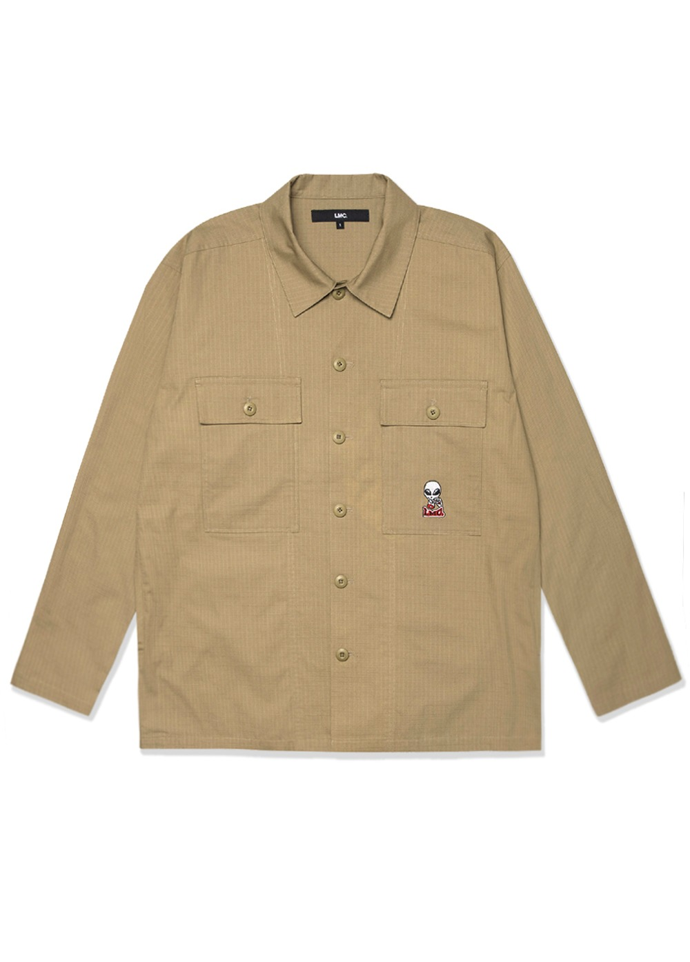 LMC RIPSTOP FATIGUE SHIRT brown