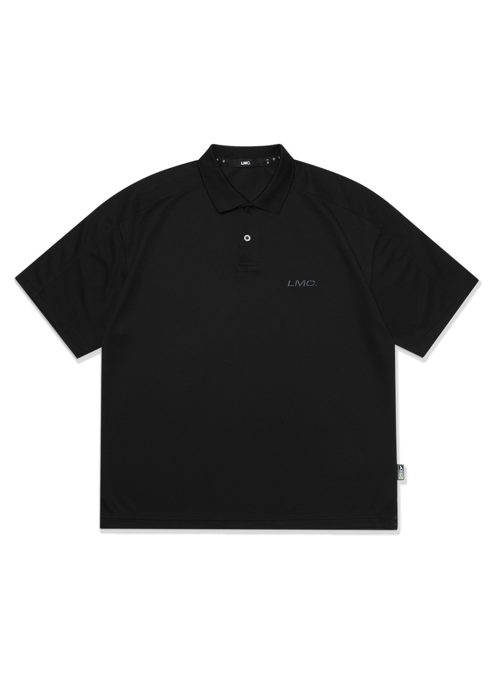 LMC ACTIVE GEAR MESH POLO SHIRT black