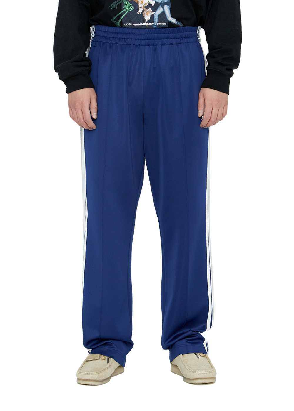 LMC SIDE STRIPED JERSEY PANTS navy