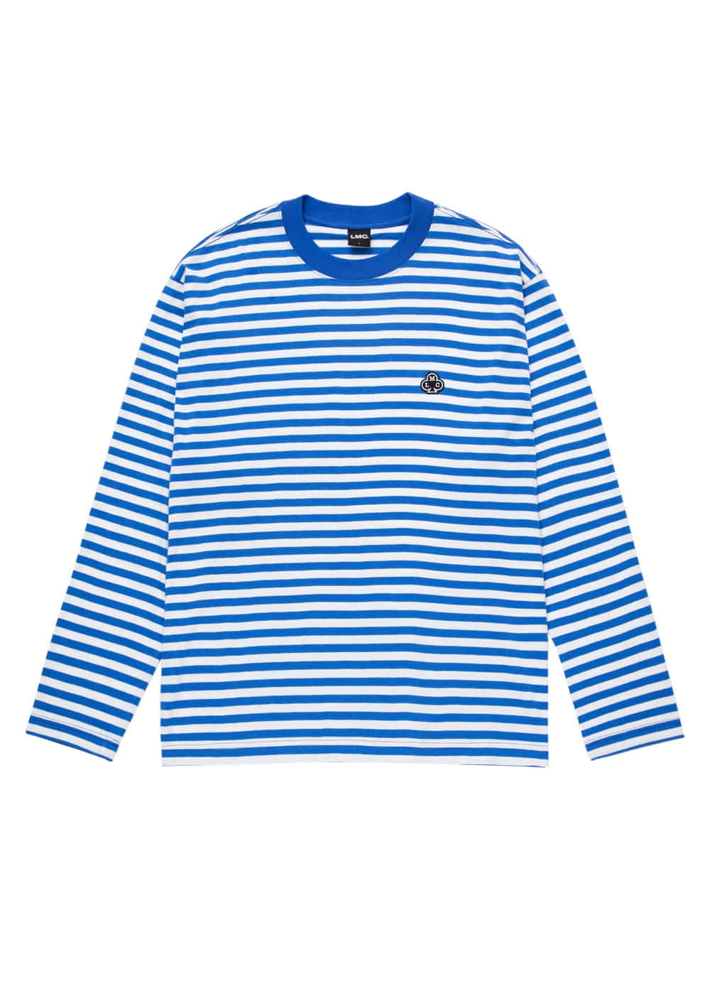 LMC CLUB STRIPE LONG SLV TEE blue