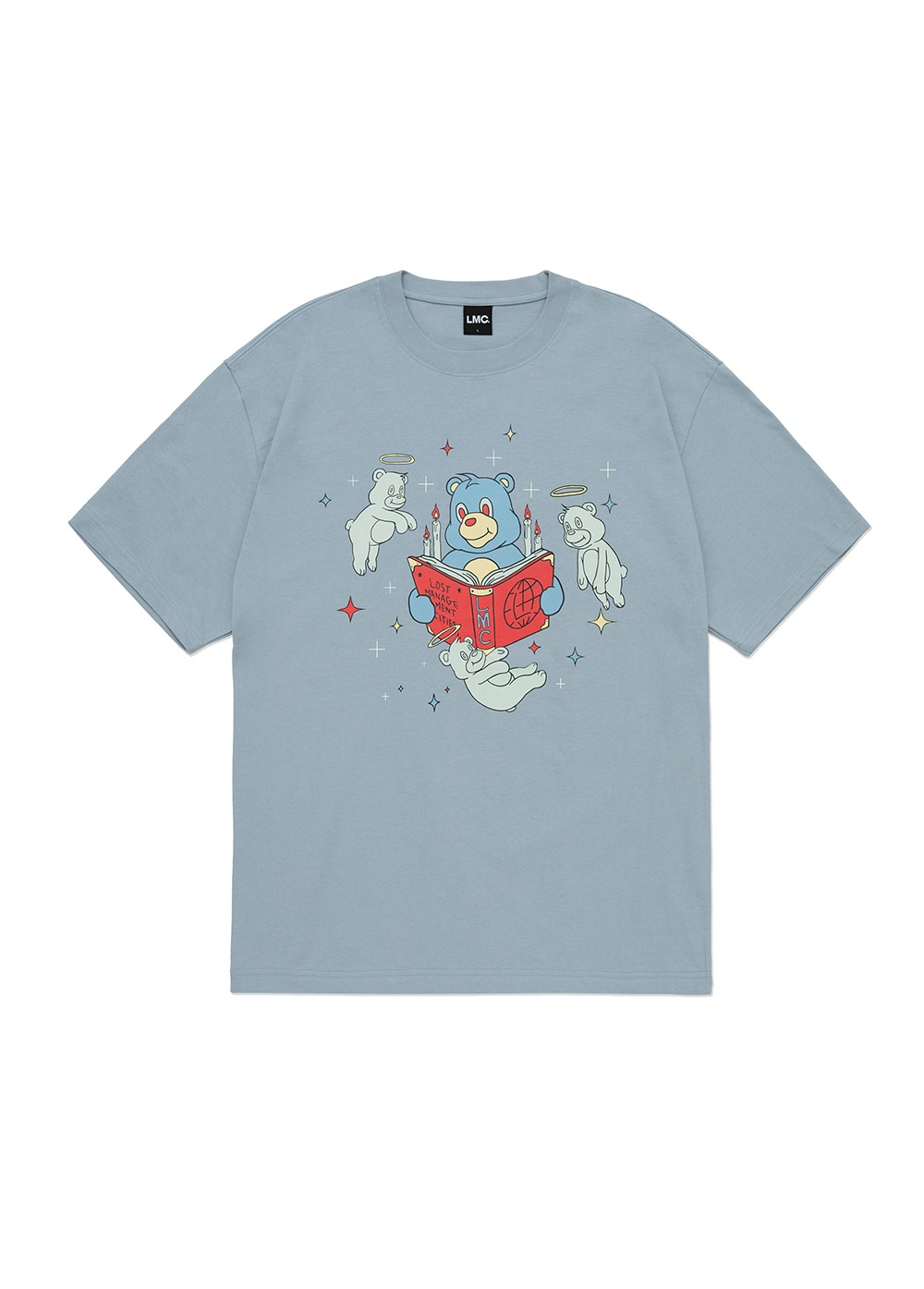 LMC GHOST BEARS TEE blue gray