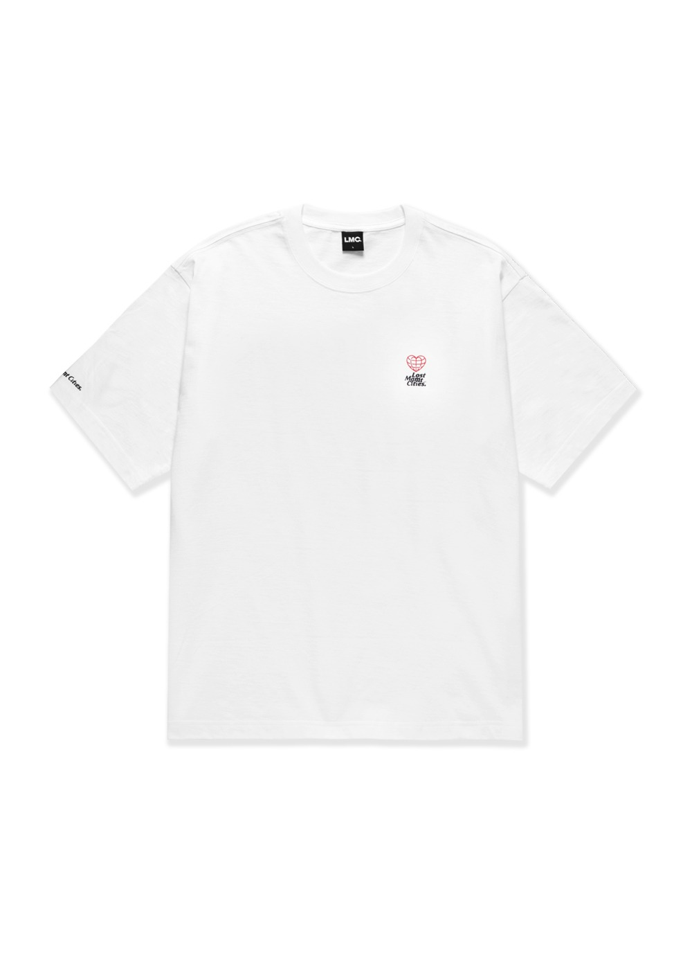 LMC MINI HEART GLOBE TEE white