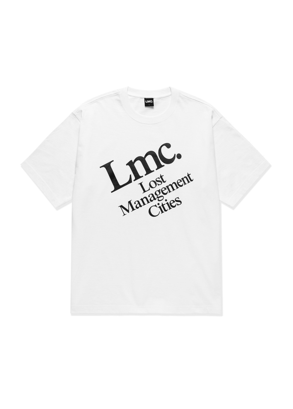 LMC DIAGONAL TEE white
