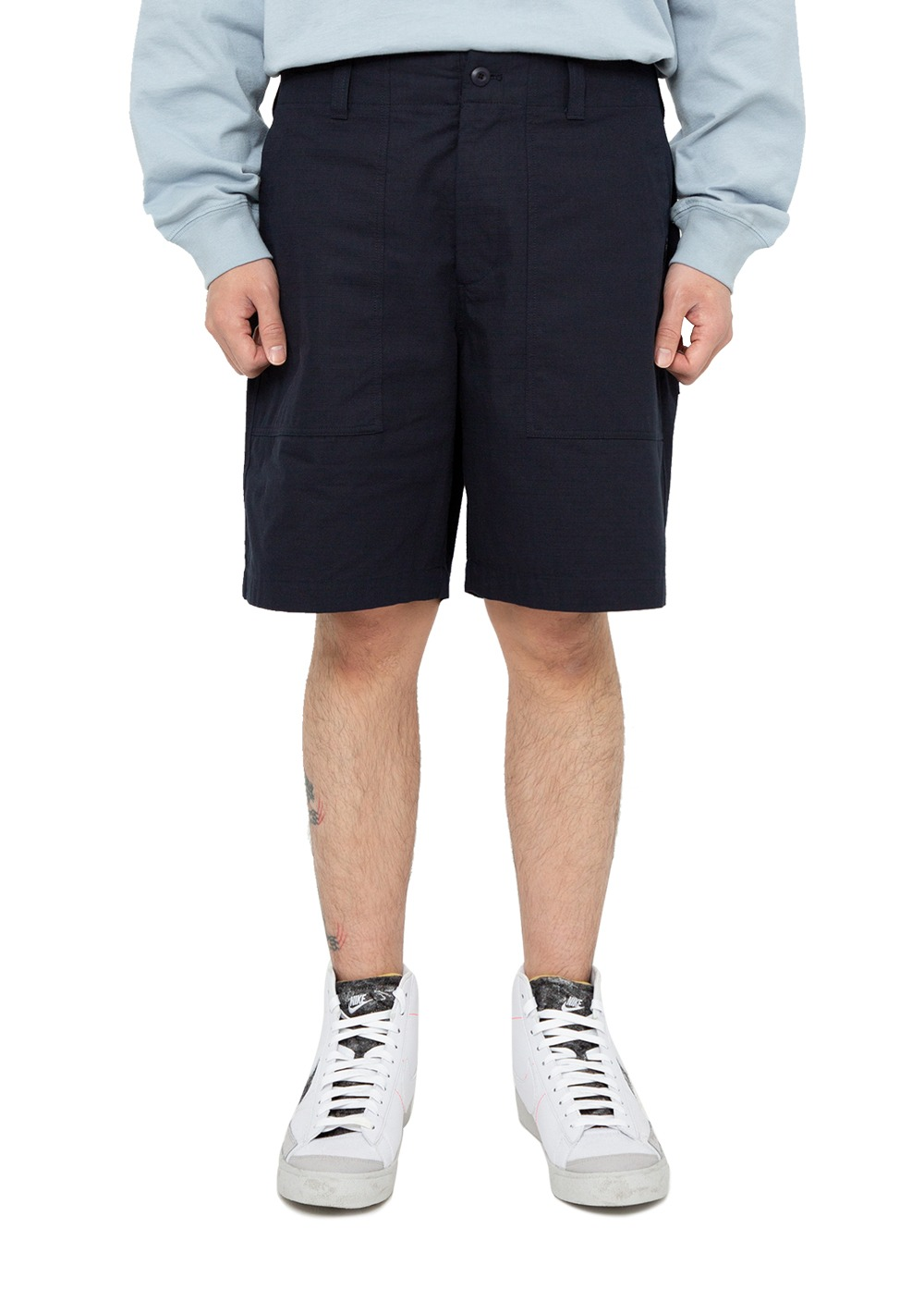 LMC RIPSTOP FATIGUE SHORTS navy