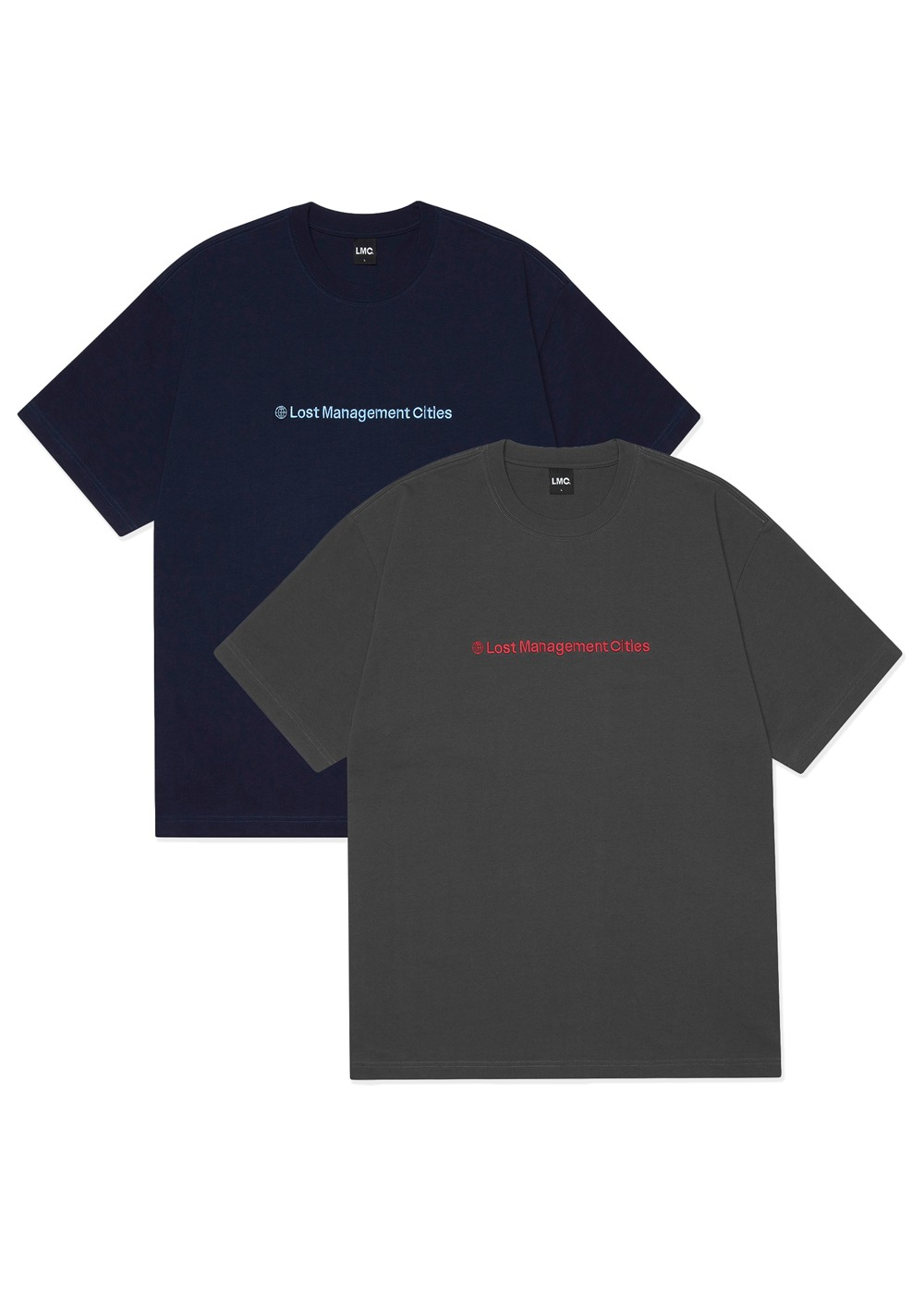 LMC BASIC FN TEE 2PACK navy/charcoal